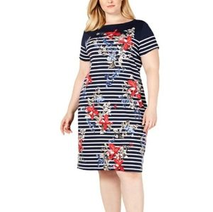 New Karen Scott Plus 1X Floral Activewear Dress
